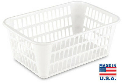 Sterilite Large Storage Basket for Utilities and Laundry, White #1609 (2 PACK)