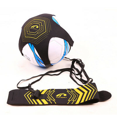 Soccer Football Kick Throw Trainer Solo Practice Training Aid Control Skills FT