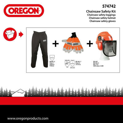 Oregon 3Pc Forestry/chainsaw Safety Kit Gloves/helmet/chaps 574742