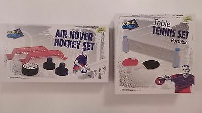 Table Games Air Hover Hockey Set or Table Tennis Set Portable