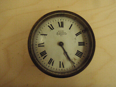 Vintage W.Caney clock - tube casing, beveled glass. suit vintage car / boat