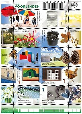 Nederland / The Netherlands - Postfris/MNH - Sheet Museum Voorlinden 2017