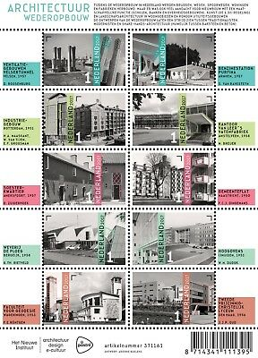 Nederland / The Netherlands - Postfris/MNH - Sheet Architecture 2017