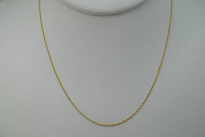 10K gold 16 inches fine rope style chain