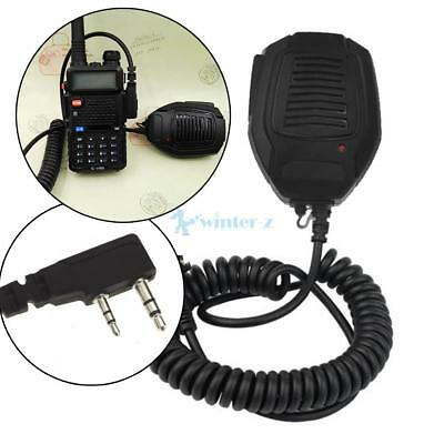 2 Pin Handheld Shoulder Speaker Mic Microphone for Baofeng Kenwood TK-2200 Radio