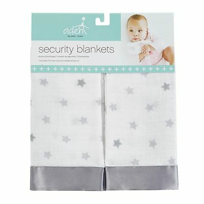 aden by aden anais Security Blankets 2-Pack Dove