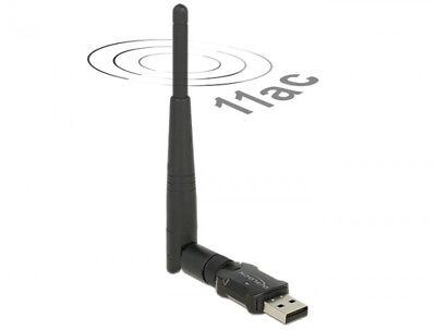 Delock Usb 2.0 Dualband Wlan Ac/a/b/g/n Stick 433 Mbps Mit Externer Antenne