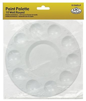 Royal & Langnickel 10 Well Round Plastic Palette