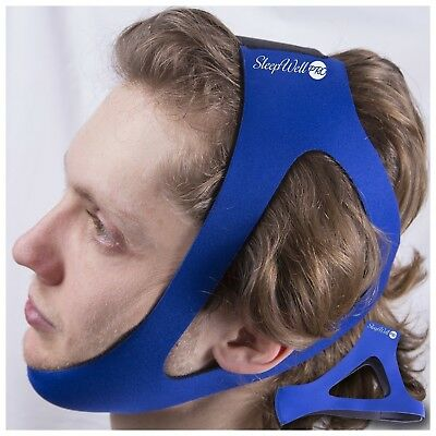 EasySleep Pro Adjustable Stop Snoring Chin Strap (Blue)