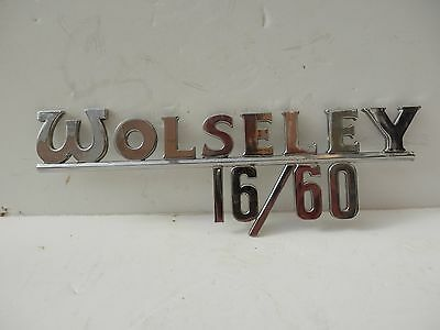Original Authentic Wolseley 16/60 Badge by J Fray, Birmingham.