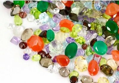 50+ cts Natural Loose Mix Gemstone Lot, Mixed Faceted Gems Wholesale