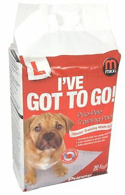 Mikki Puppy Toilet Training Pads - Pup-pee Pads 30 Pack