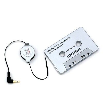 IOMAX Car Cassette Adapter for iPod and MP3 Players - Retractable Cable