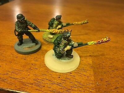 German 28mm, Flamethrowers, painted, ww2, Bolt action