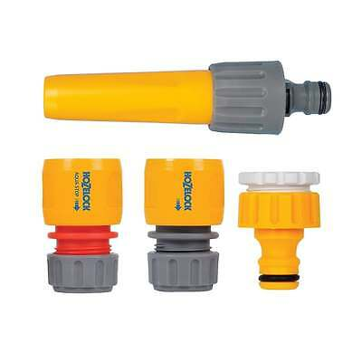 Hozelock Fittings & Nozzle Starter Set - Includes Hose End and Tap Connectors
