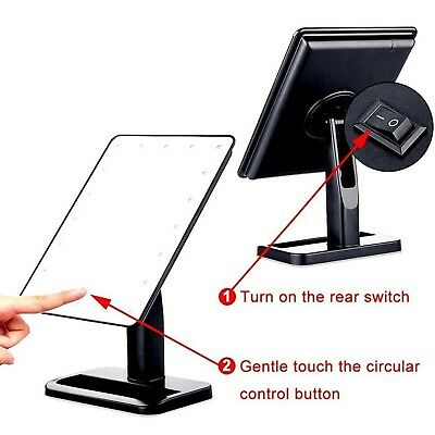 Lmeison Touch Screen 20 LED Lighted Makeup Mirror with Removable 10x Magnifying