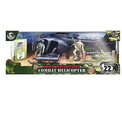 World Peacekeepers Combat Helicopter & 2 Figures