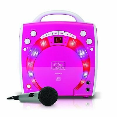 Singing Machine SML283PNK Portable Plug-n-Play Karaoke CDG Player mit extra b...