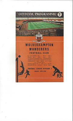 Wolves v Nottingham Forest 1959 Charity Shield Football Programme