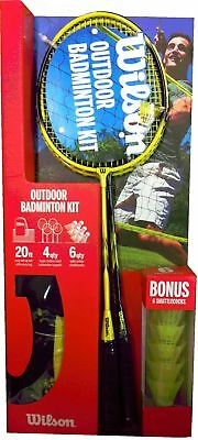 Wilson Premium Quality 4 Player ( Ready Boxed ) Badminton Set RRP A?100