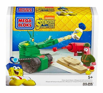 Mega Bloks Toy - SpongeBob Square Pants Movie - Pickle Tank Attack Playset - ...