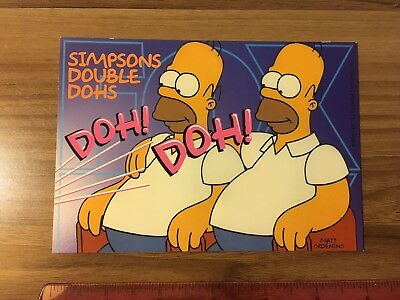 The Simpsons / Homer Simpson Postcard, Fox Philadelphia, Circa 2000, Unused