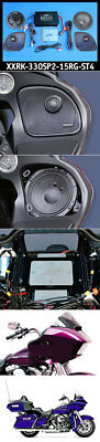 J&M ROKKER XXR Stage 4 330w 2-Speaker Amplifier Kit 14-18 Harley FLTR/U