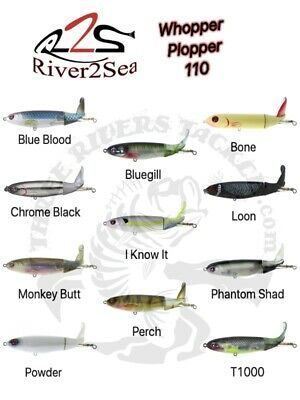 River2Sea Whopper Plopper 110 Topwater Prop Bait Lure - Choose Color Pattern