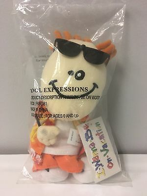 "I Wanna Be On Vacation Doll 9"" Soft Plush Bean Bag Doll AVON 2002 NWT In Bag"