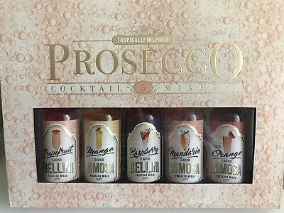 Prosecco Tropically Inspired Cocktail Mixers X5 Flavours