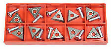 fit AMMCO 6918 TwinCutter 10 Lathe Bits/Inserts Positive Rake (+10 SCREWS) USA
