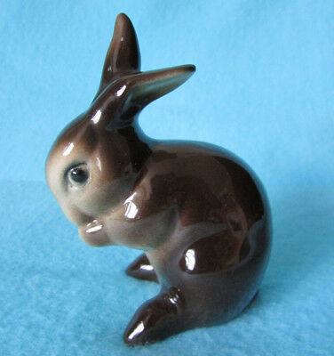 Fab Rare Vintage Goebel West Germany Cute *brown Bunny Rabbit* Ornament Ce 299