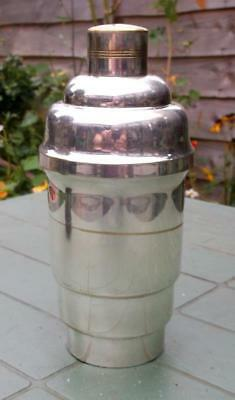 Shabby Chic Art Deco Silver Plated Cocktail Shaker