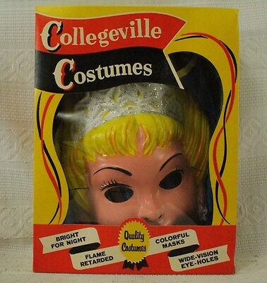 Vintage old Princess Children's Halloween Costume Mask Magic wand original box