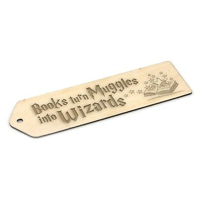 Harry Potter Inspired Wooden Bookmark - Engraved Gift - Muggles into Wizards
