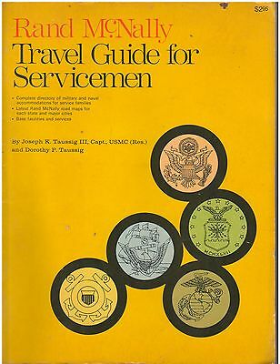 TRAVEL GUIDE for SERVICEMEN 1971 RAND McNALLY WORLD ATLAS & BASE DIRECTORY