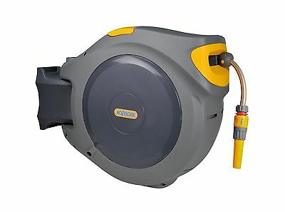 Hozelock 2595 Auto Reel  with 40m Hose - Wall Mounted Auto Retractable Hose Reel