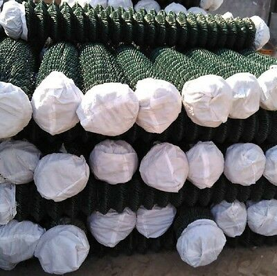 GREEN PVC COATED CHAIN LINK FENCING 1.2mtr x 15 mtr, + STRAINING WIRE & TENSIONS