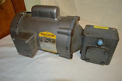 BALDOR VL3501 Motor .33 HP 1725 RPM with Boston Gear Reducer