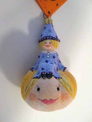 """""""Little Hazel"""" Double Signed Breen Glass Halloween Ornament! HCB 2005 Excl."""