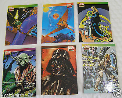 STAR WARS GALAXY New Visions Comic Sketch Topps Cards Author Illustrated Lot