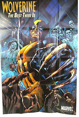 LOT of 3 Three Marvel Posters NEW Wolverine, Super Soldier More FREE US SHIP