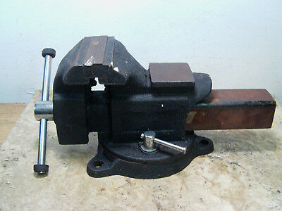 """Pre-owned Unkown Brand 4"""" Mechanic Bench Top Swivel Vise With Pipe Jaws Anvil"""