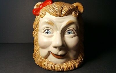 wizard of oz enesco ceramic piggy bank cowardly lion vintage