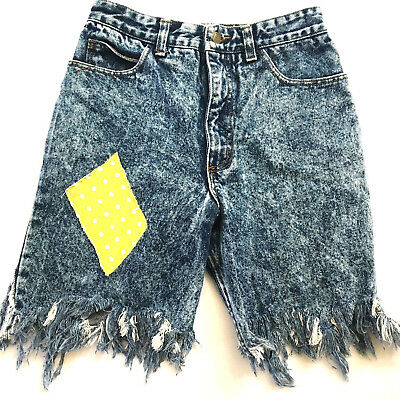 Vtg Rare Guess Georges Marciano High Waist Frayed Jeans Shorts Size 30 USA Women