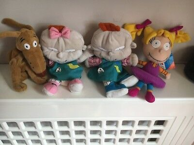 RARE Nickelodeon Phil And Lil Angelica Spike Rugrats Plushes Beanies