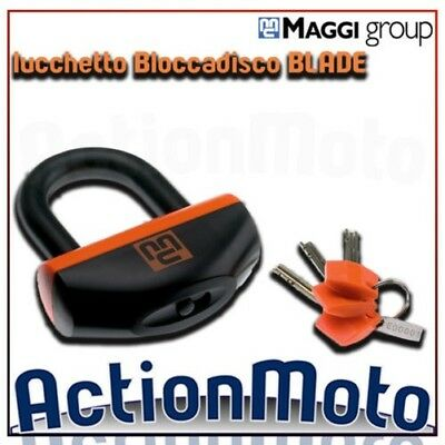 Padlock disc block ant-itheft system MAGGI BLADE steel cemented