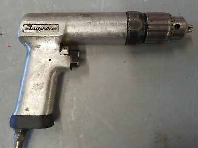 """Snap On 1/2"""" Air Drill Reversable Pdr5A Pneumatic Heavy Duty With Chuck Free Sh"""