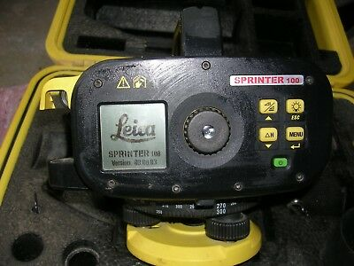 LEICA sprinter 100 digital level. laser/dumpy