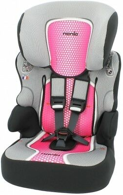 TT Nania Beline SP Group 1 2 3 Car Seat and High Back Booster Pop Pink